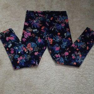 Girls size 8 floral leggings